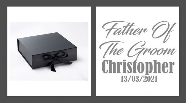 Father Of The Groom Large Luxury Personalised Gift Box